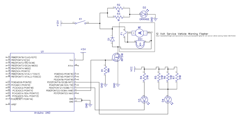 Build Break Alarm Schematic